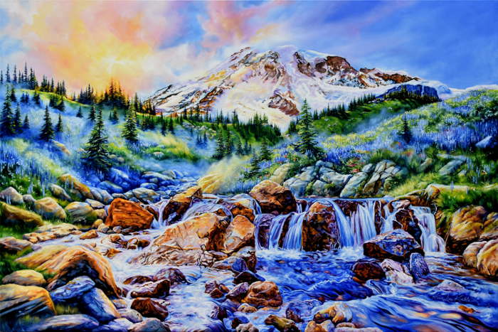 Mount Rainier painting