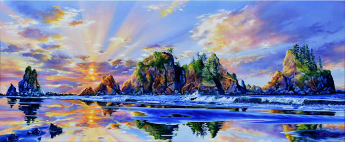 Washington coast painting