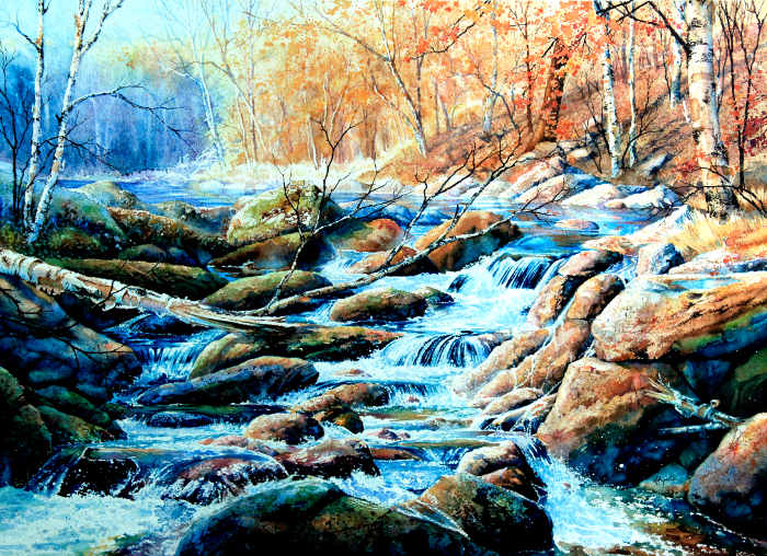 northern wilderness landscape painting