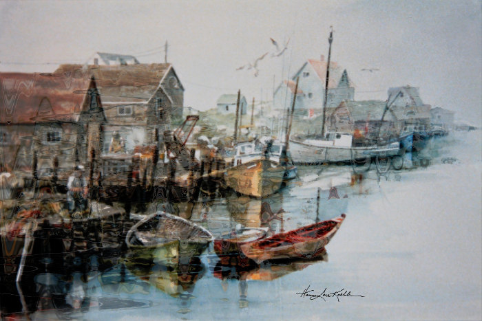 east coast fishing boats painting