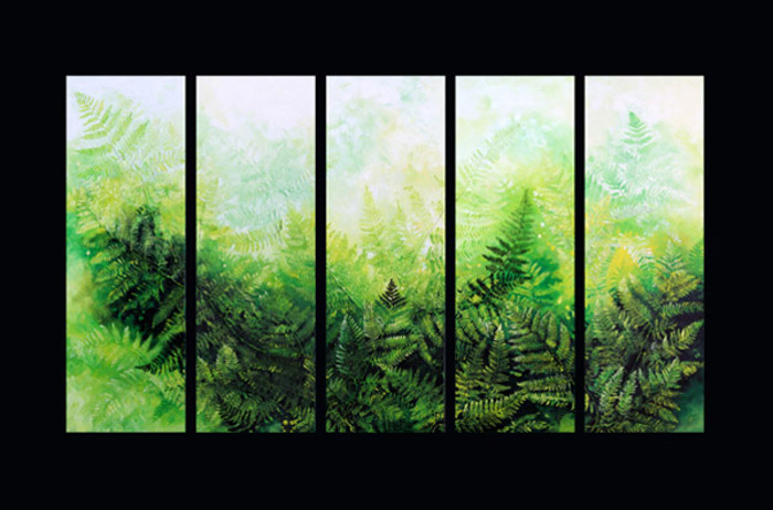 nature wall mural of ferns