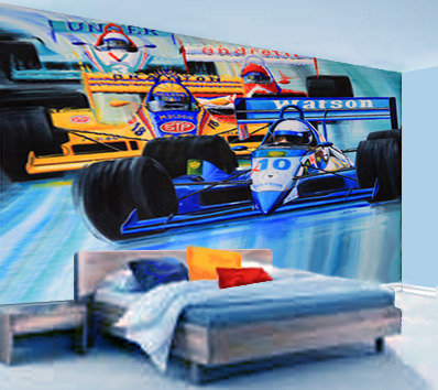 Indy Grand Prix Race Car Wall Mural
