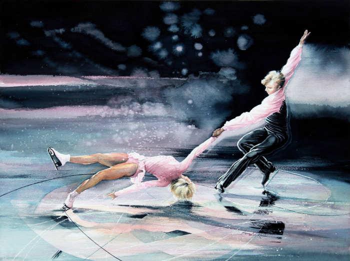 Figure Skating Wall Mural Girls Room Decor Ideas