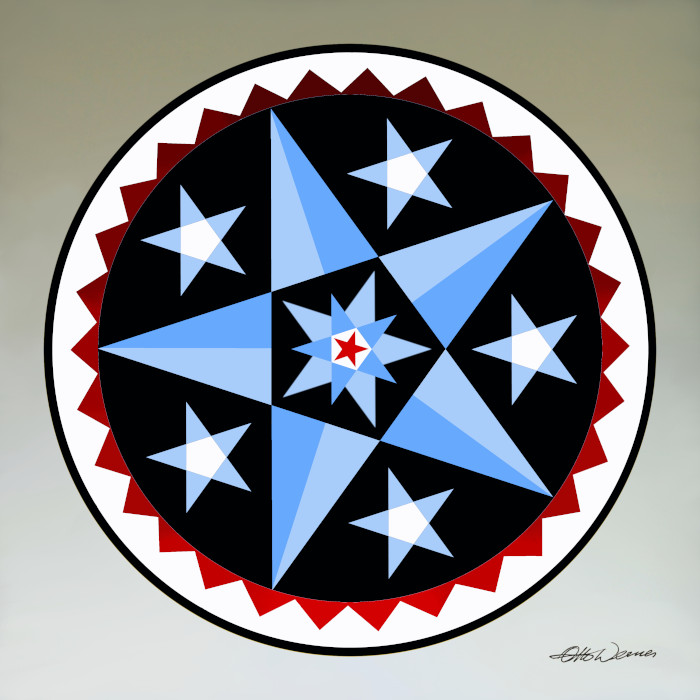 Art Prints of Amish hex sign designs by Otto Werner