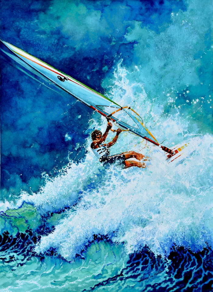wind surfer painting