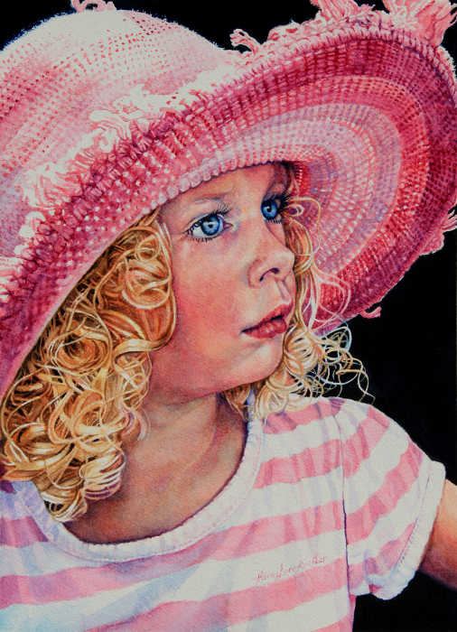 painted portrait of young girl
