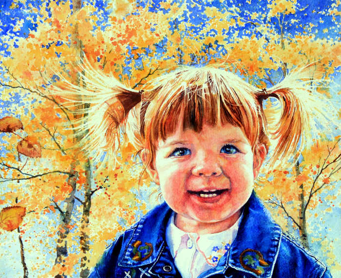 portrait painting of Colorado girl