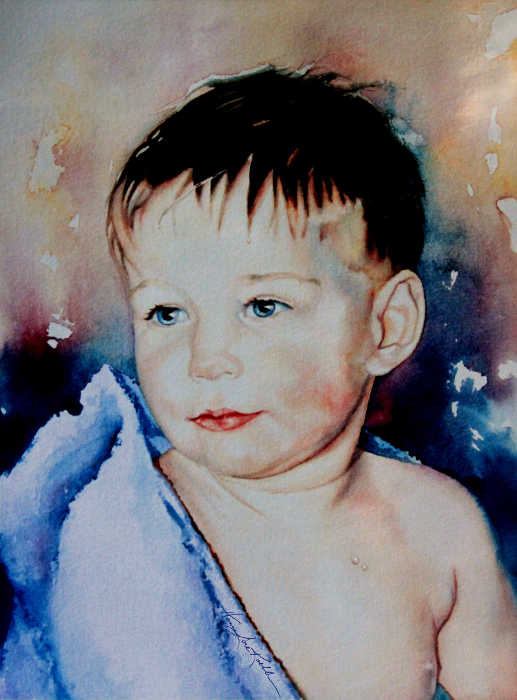 painting of a little boy