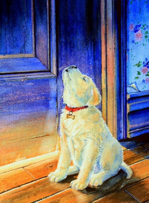 Labrador Retriever puppy painting