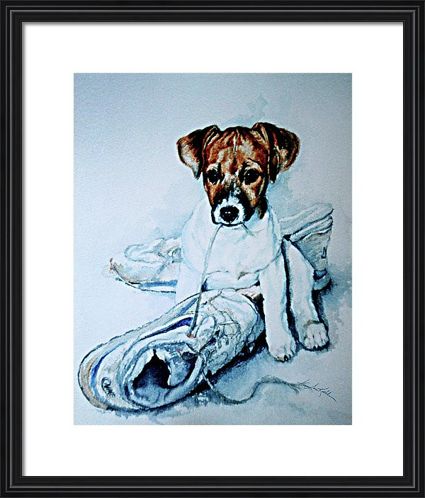 Jack Russell Terrier Puppy Portrait Painting