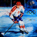 Eric Lindros Olympic Hockey Painting