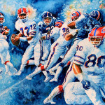 Football Action Painting