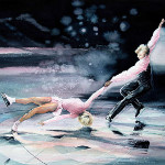 Figure Skaters Painting