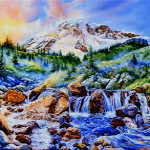 Mt. Rainier spring painting