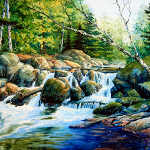waterfall creek painting