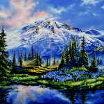 painting of Mount Rainier