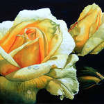 painting of yellow rose