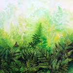 painting of ferns