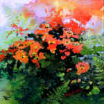 poppy garden impressionist painting and art prints
