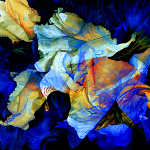 abstract impressionist roses painting