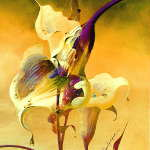 abstract impressionist calla lily paintings