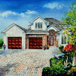 architectural home paintings