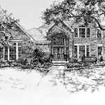pen and ink house portrait
