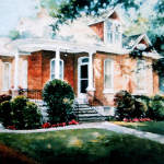 order a house portrait painting by artist