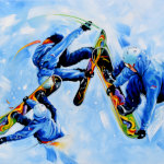 Snowboarder painting