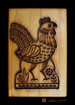 art prints of chicken cookie baking mold