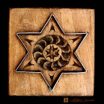 art prints of star of David cookie mold