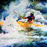 Kayaker Painting