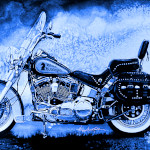 Blue Knight Motorcycle Art