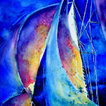 Abstract Sailboats