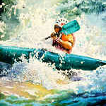 white water Kayaker painting