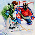 street hockey painting