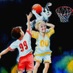 children basketball painting