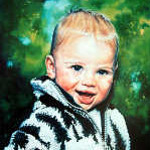 portrait painting of a toddler