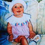 painting of baby