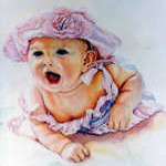 watercolor baby portrait painting