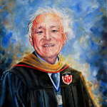 Alumni professor memorial portrait