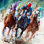 horse race painting