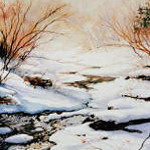 winter creek painting
