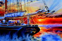 Shop And Boat Paintings